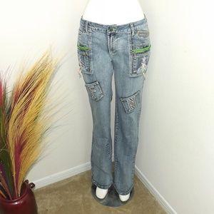 Light Wash Blue Denim Jeans Pants